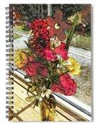 Window Flowers Spiral Notebook