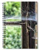 Window Lock And Spider's Web Spiral Notebook