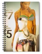 Window Mannequin 6 Spiral Notebook