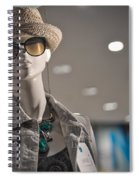 Window Mannequin 7 Spiral Notebook