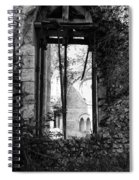 Window Of Haunted Abbey Spiral Notebook