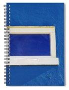 Window On Blue Spiral Notebook