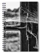 Window Spiders Web Spiral Notebook