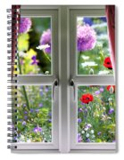 Window View Onto Wild Summer Garden Spiral Notebook