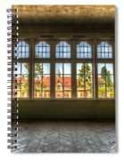 Window With Beauty Spiral Notebook