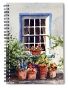 Window With Blue Trim Spiral Notebook
