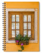 Window With Flowers Spiral Notebook