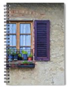 Window With Potted Plants Of Rural Tuscany Spiral Notebook