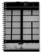 Windows Of Brooklyn In Black And White Spiral Notebook