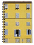 Windows Of Florence Against A Faded Yellow Plaster Wall Spiral Notebook