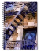 Windowscape 7 - Old Buildings Of New York City Spiral Notebook