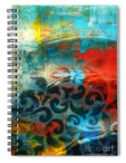Winds Of Change - Abstract Art Spiral Notebook