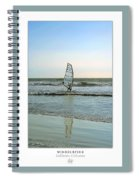 Windsurfing Art Poster - California Collection Spiral Notebook