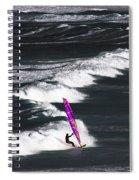 Windsurfing Man Spiral Notebook