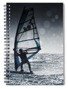 Windsurfing With Water Drops On Camera Spiral Notebook
