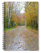 Windy And Rainy Fall Day Spiral Notebook