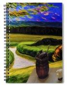 Windy Autumn With Still Life 05 Spiral Notebook