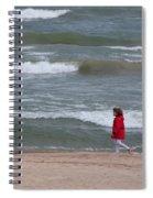 Windy Beach Walk Spiral Notebook