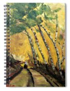 Windy Countryside Day Spiral Notebook