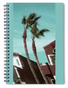 Windy Day By The Ocean  Spiral Notebook