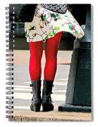 Windy Morning In Manhattan Spiral Notebook