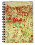 Windy Poppies At The Fields Spiral Notebook