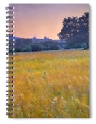 Windy Sunset At The Medieval Castle Spiral Notebook