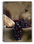 Wine And Bread Spiral Notebook
