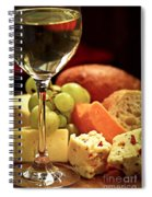 Wine And Cheese Spiral Notebook