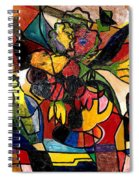 Wine And Flowers For Two Spiral Notebook