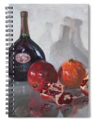 Wine And Pomegranates Spiral Notebook