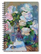 Wine And Roses Spiral Notebook