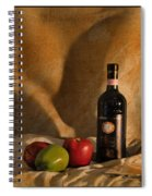 Wine Apples And Cheese Spiral Notebook