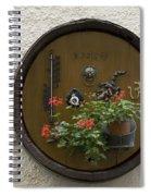 Wine Barrel Decoration Spiral Notebook