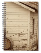 Wine Barrels And Rustic White Barn Spiral Notebook