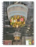 Wine Bottle Chandelier Spiral Notebook