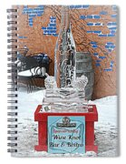 Wine Bottle Ice Sculpture Spiral Notebook