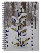 Wine Bottle Sculpture Christmas Card Spiral Notebook