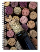 Wine Bottle With Corks Spiral Notebook