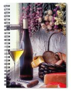 Wine Bottle With Glass In Window Spiral Notebook