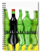 Wine Bottles Spiral Notebook