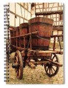 Wine Cart In Alsace France Spiral Notebook