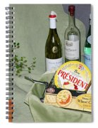 Wine Cheese And Crackers Spiral Notebook