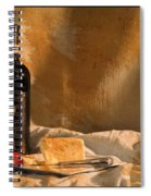 Wine Cherries And Cheese Spiral Notebook