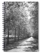 Wine Country Napa Black And White Spiral Notebook