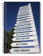 Wine Country Signs Spiral Notebook