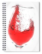 Wine Glass Spiral Notebook