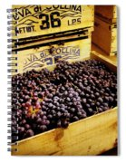 Wine Grapes Spiral Notebook