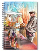 Wine Vendor In A Provence Market Spiral Notebook