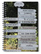 Winery Street Sign In The Sonoma California Wine Country 5d24601 Square Spiral Notebook